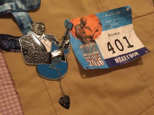 Mississippi Blues bib and medal