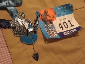 Mississippi Blues bib and medal